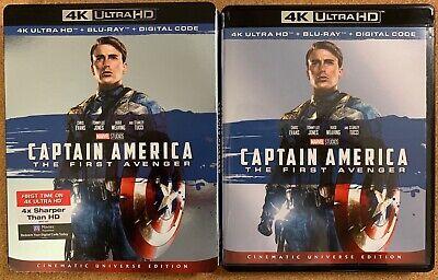 MARVEL CAPTAIN AMERICA THE FIRST AVENGER 4K ULTRA HD BLU RAY 2 DISC + SLIPCOVER