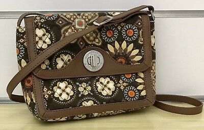 Vera Bradley Patricia Crossbody In Canyon With Leather Trim