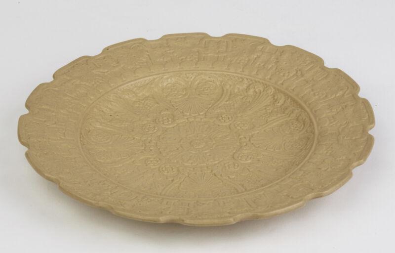 RIDGWAY NEOCLASSICAL DRABWARE CABINET PLATE C.1830