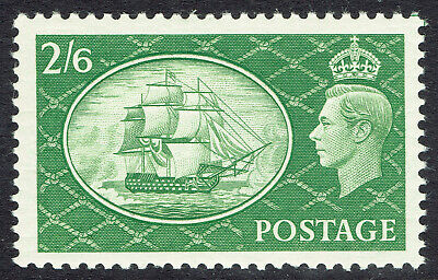 🌟 GB KGVI SG509 - 2s6d GREEN - 1951 HIGH VALUE - MNH UNMOUNTED MINT - Sc #286