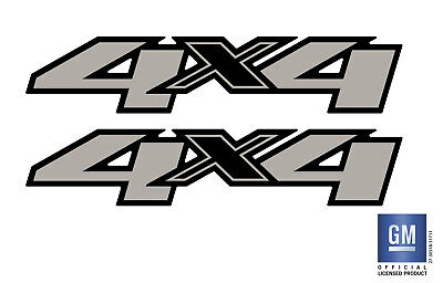 2011 11 Chevy Silverado Sierra 1500 2500 3500 HD 4X4 Bed Side Decal Stickers (2)