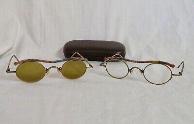 l.a. Eyeworks Banjo eyeglass and/or Sunglasses frames Brown/Blue NOS (Eyeglass Or Eyeglasses)