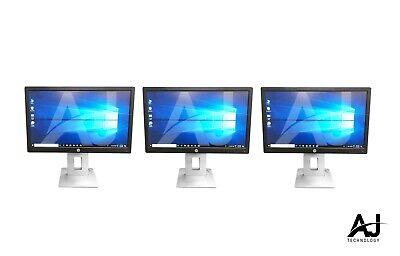 "3 x HP EliteDisplay E222 IPS LED Monitor 22""  1080p HDMI/Display Port/VGA/USB"
