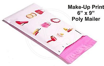 (40) MAKEUP BEAUTY PRINT 6 x 9 Flat Poly Mailers Shipping Package Envelopes Bags