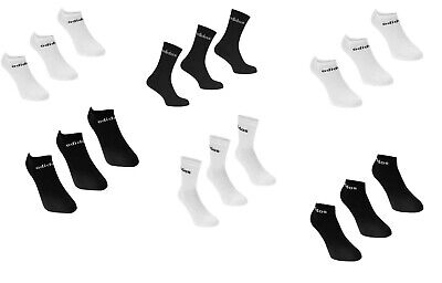 adidas Crew, No Show 3 Pack Trainer Socks Mens Black/White, White/Black