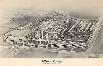 For sale 1924 Ford Motor Company, Highland Park Plant - Detroit, Michigan Postcard