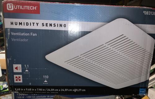 Utilitech Humidity Sensing Ventilation Fan 1.1 Sone 110 CFM