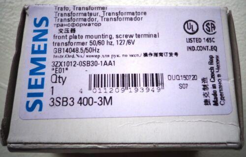 SIEMENS 3SB3 400-3M TRANSFORMER KIT, NEW!