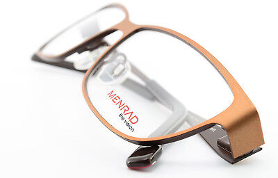 MENRAD Brille The Vision 13276-1657 Square Eye Frame Spring Temples Brown NEW