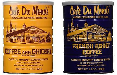 Cafe Du Monde Coffee and Chickory and French Roast Bundle. New Orleans Coffee Cafe Du Monde French Coffee