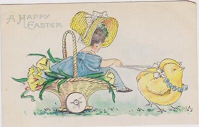 """EASTER Bonnet girl in """"basket"""" chariot, Chicks, 00-10s for sale  Shipping to Canada"""