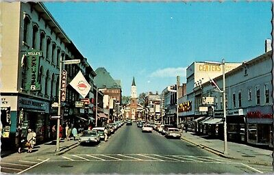 Street Scene Church Street Burlington VT c1966 Vintage Postcard R16 (Church Street Burlington)