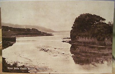 Irish Postcard View from Castle Bridge BUNCRANA Co DONEGAL Ireland CTC Eire B