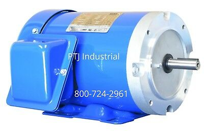 2 Hp Electric Motor 56c Frame 3 Phase 1800 Rpm Inverter Rated Totally Enclosed