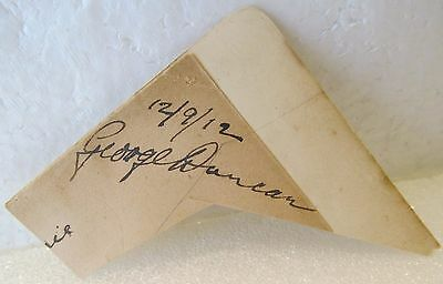 VINTAGE FOUNTAIN PEN AUTOGRAPH-GEORGE DUNCAN-1920 BRITISH OPEN CHAMP