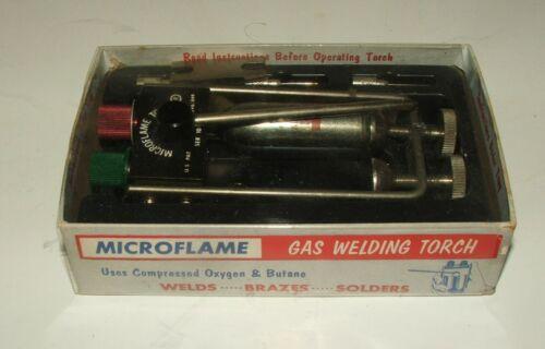 Microflame Gas Welding Mini Torch Vintage In Original Box W/ Paperwork