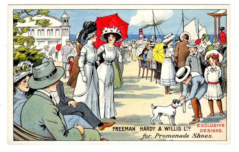 TRADE CARD BRITISH FREEMAN HARDY & WILLIS SHOES (SB)