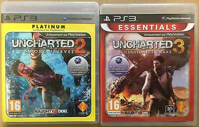 Used, Jeux PS3 : Uncharted 2 Among Thieves + Uncharted 3 L'illusion de Drake for sale  Shipping to Nigeria