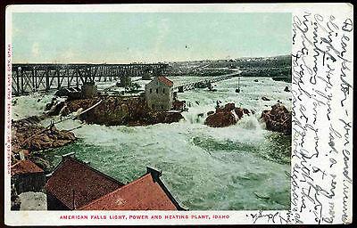 Vintage 1906 American Falls Light Power   Heating Plant Idaho Postcard