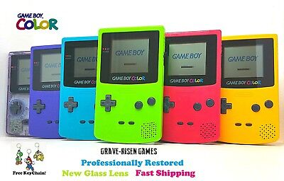 *RESTORED* AUTHENTIC ORIGINAL NINTENDO GAME BOY COLOR CGB-001 *NEW GLASS LENS*
