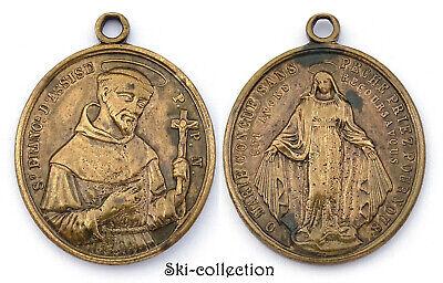 Medal Religious Saint François D'Assise. P. P.N.France,19th No S.Bronze