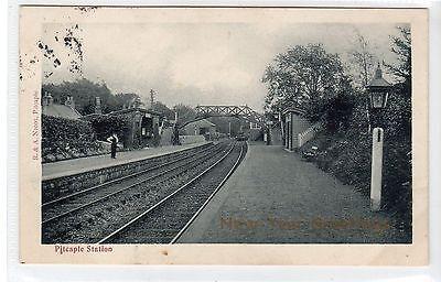PITCAPLE STATION: Aberdeenshire postcard (C25036)