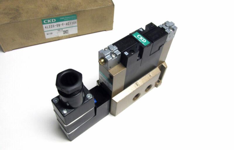 NIB ... CKD Solenoid Valve Cat# 4L220-08-F-AC110V ...  WP-58