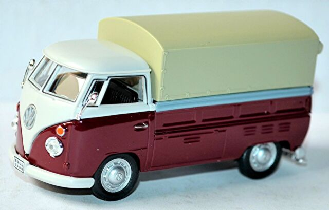 VW Volkswagen T1 Flatbed truck Pick-Up Tarpaulin 1951-67 red & white 1:43