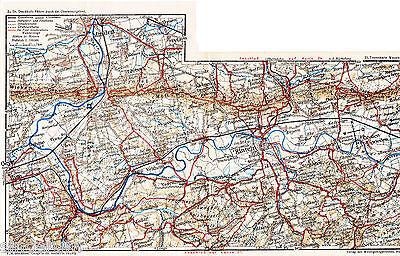 Rinteln Schaumburg Vlotho 1912 kl. W-Karte + Wanderf. (16 S.) Porta Minden Rehme
