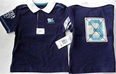 Nautica Polo Shirt Tee Top Boy's 2 2T Navy Blue $35 NWT Short Sleeves