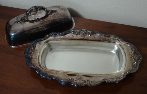 """GORHAM CHANTILLY Silverplate Covered Butter Dish ~ No Tray ~ 9"""" ~ YC1307"""