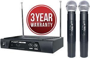 Open Box - Kam KWM11 - Dual VHF Wireless Mic System 173.8 + 175.0 MHz
