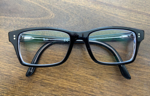 Ray Ban RB 5225 2034 Black Eyeglasses Frames 52 17-140 With Black Glasses Case - $90.00