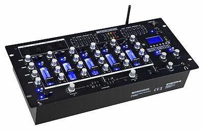 DJ PA Mixer Mischer Mischpult Bluetooth USB SD Cue Crossfader 5 Kanäle XLR Cinch