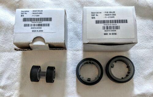 Genuine Fujitsu Fi-7160 Brake & Pick Roller Set PA03670-0001 and PA03670-0002