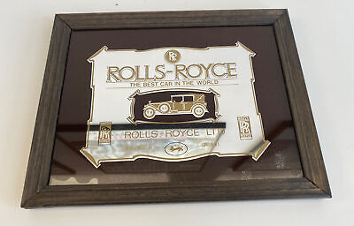 Vintage 1970's Rolls Royce Advertising Mirror