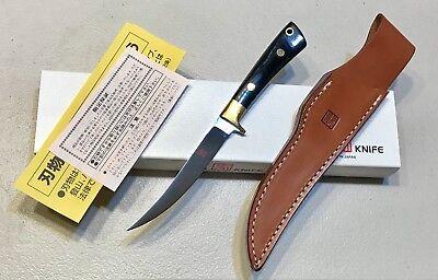 Vintage 1980' Al Mar Seki Japan USA Fisher Dagger Knife Sheath Papers Case Mint