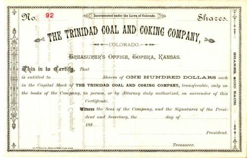 Trinidad Coal & Coking Company Colorado 1880