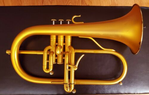 Eclipse Flugelhorn  in Brushed Gold Lacquer Finish