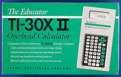 SEALED The Educator TI-30X II Calculator for Overhead Projectors w/ case & pouch