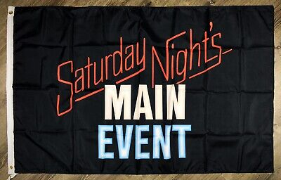WWF Saturday Night's Main Event Flag 3x5 ft Banner World Wrestling Federation - Wwe Banner