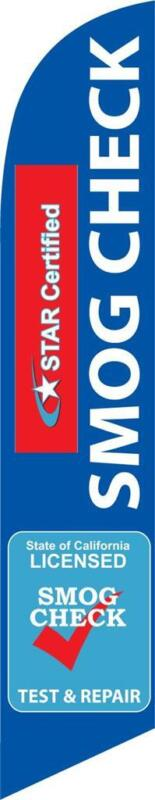 Smog Check Star Certified Repair 12ft Feather Banner Swooper Flag - FLAG ONLY