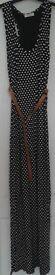 sleeveless Polka Dot Dress with belt, size S-M