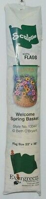 - Evergreen Enterprises 13344 Welcome Spring Basket Sculpties Flag