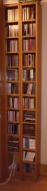2 IKEA CD/DVD towers in beech, fully assembled, adjustable shelves