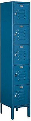 Standard Metal Locker - Five Tier Box Style - 1 Wide - 5 High - 12 Deep Locker