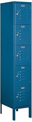 Standard Metal Locker - Five Tier Box Style - 1 Wide - 5 High - 15 Deep Locker