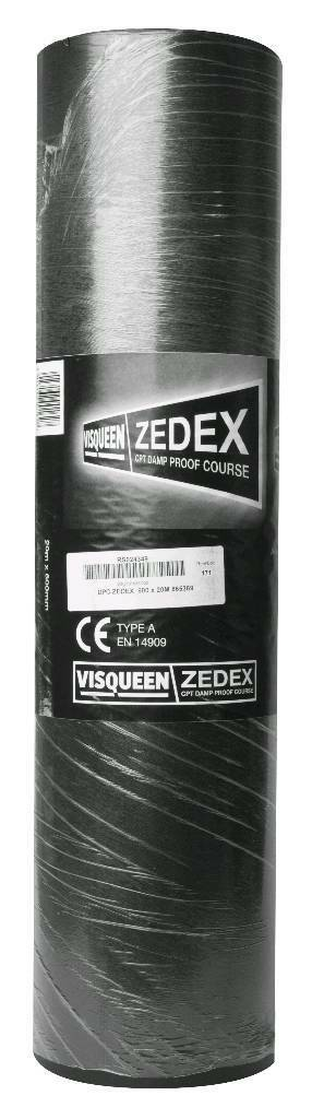 HIGH PERFORMANCE ZEDEX VISQUEEN DPC 600MM X 20M