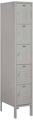 Standard Metal Locker - Five Tier Box Style - 1 Wide - 5 High - 18 Deep Locker