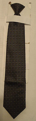 Stafford Essentials Mens Polyester Black Print Redi Clip Tie